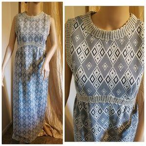 1960s maxi length dress